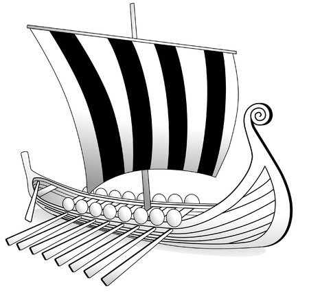 historical ship: Viking boat