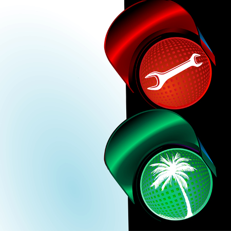 traffic lights to holiday Stock Vector - 7065085
