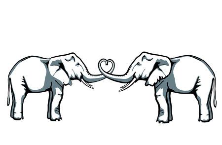 inseparable: elephant love