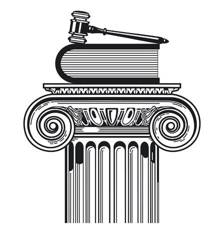 giustizia: giurisprudenza prevalente Vettoriali