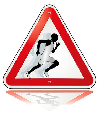 runner pulled away Stock Vector - 7168191