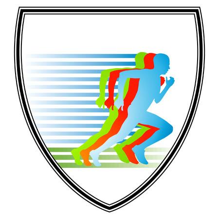 athlete running: Sprint, Sign Illustration