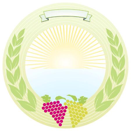 pure wine label Vector
