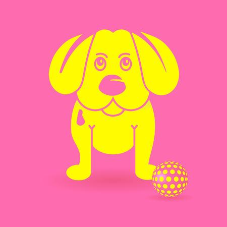 puppydog: yellow puppy-dog
