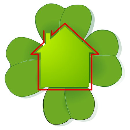 lucky house Stock Vector - 7222122