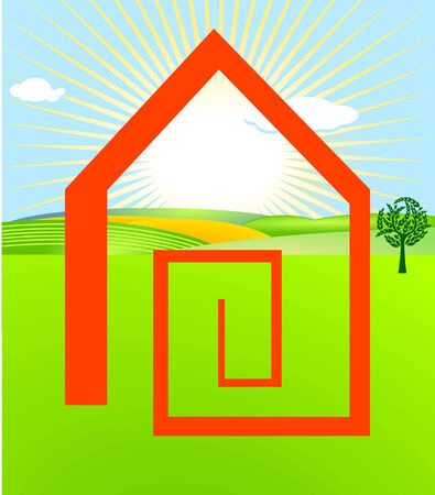 to have a house built Stock Vector - 7260404