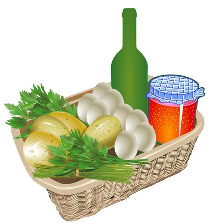 freigestellt: Farm organic food Illustration