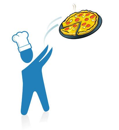 pizza fast service Ilustração