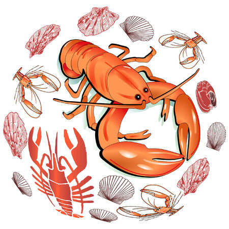 Seafood Stock Vector - 7260420