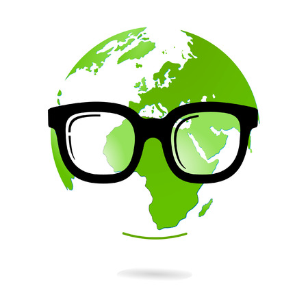 eyeglasses and world natural heritage Stock Vector - 7260413