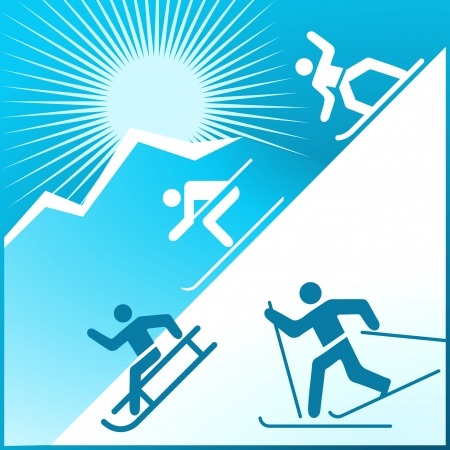 mountain skier: winter activity