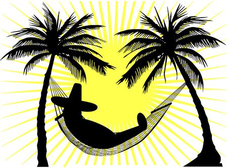 deckchair: siesta and hammock Illustration