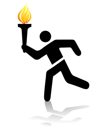 olympic torch Stock Vector - 7296990
