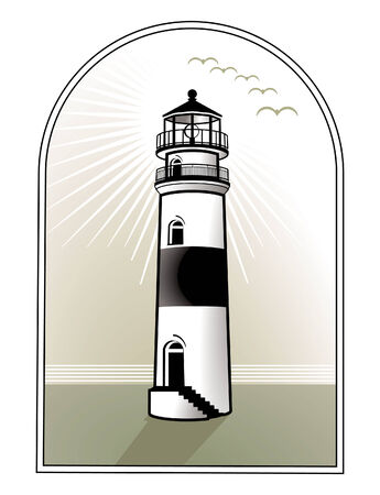 meer: light house logo