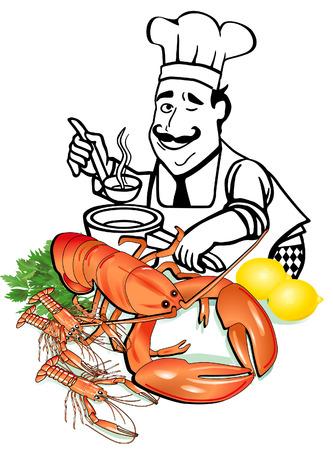 majorca: seafood cooking Illustration
