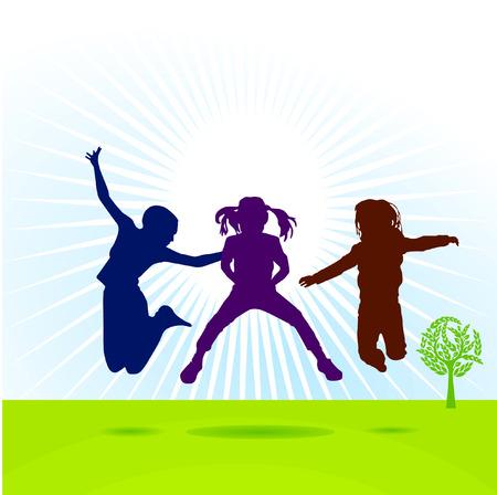 bluster: kids to jump Illustration