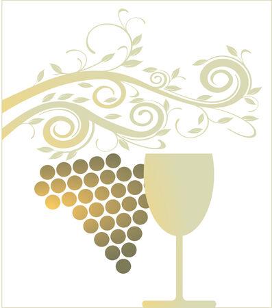 french wine: golden wine glass