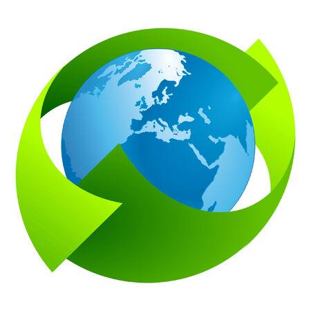 Green Earth Sign Stock Vector - 7361485