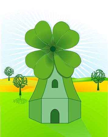 dutch clover: wind mill, clover