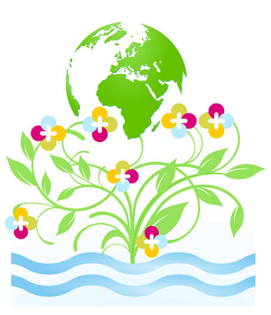 floral environment protection Stock Vector - 7361484