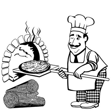 hout gestookte pizza