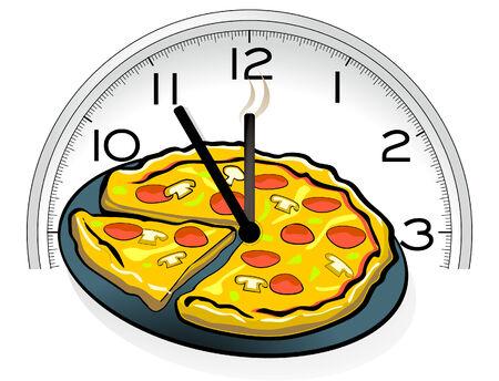 정오: Pizza service 일러스트