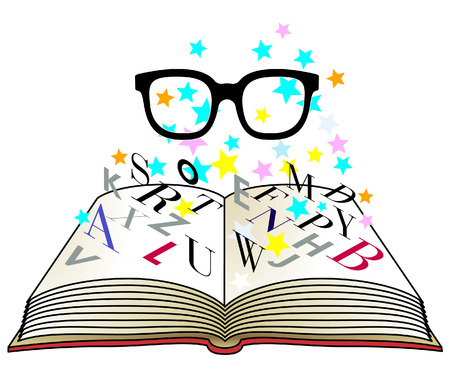 hymnal: Reading Glasses Illustration