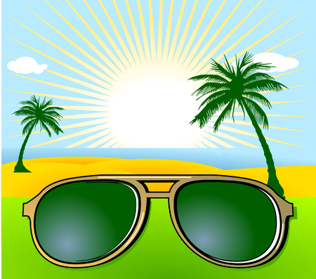 meer: holiday and sunglasses