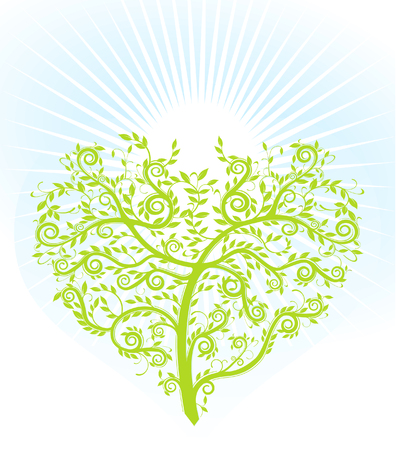 marrying: tree with heart Illustration
