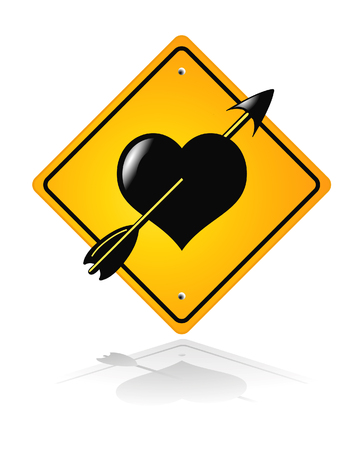 traffic road heart sign