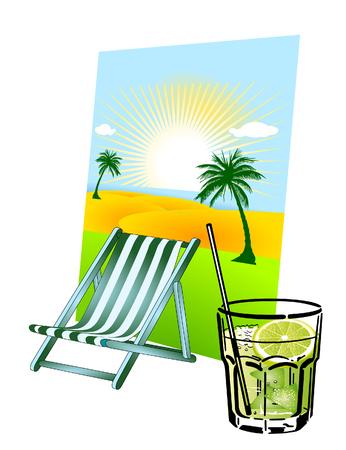 caipirinha: caipirinha and deck chair