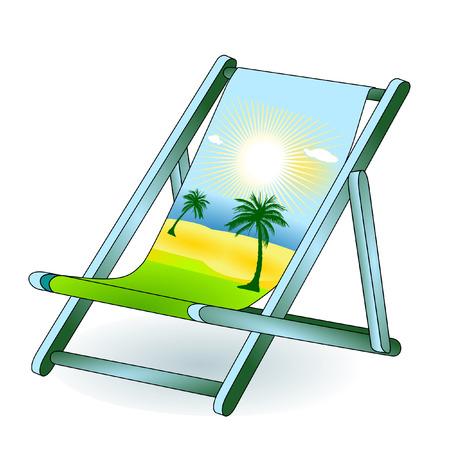 ligstoel vakantie droom