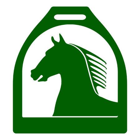 signet: stirrup horse sign Illustration
