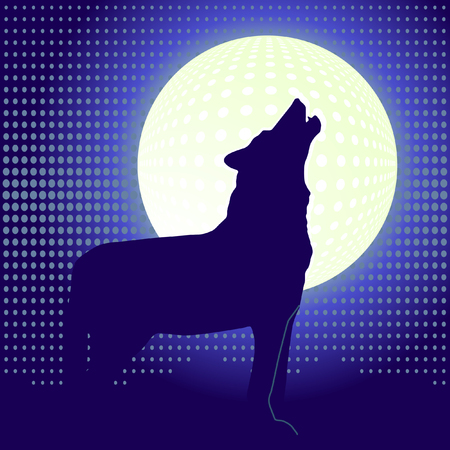 lone wolf Vector