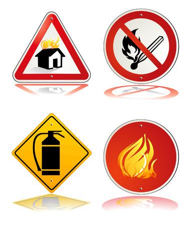 alarming: signo de la seguridad de fuego  Vectores