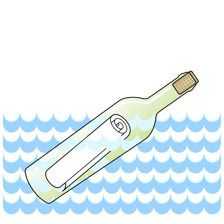 message in a bottle Stok Fotoğraf - 7586776