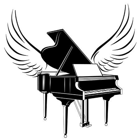 pianista: piano de cola y ala volante