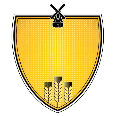 oat field: grain emblem