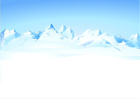 winter mountains panorama Vector