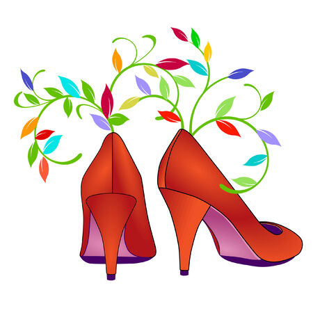 upscale: flower shoes
