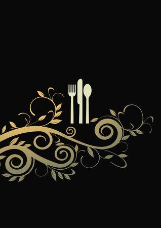 a la cart dining Stock Vector - 7623453