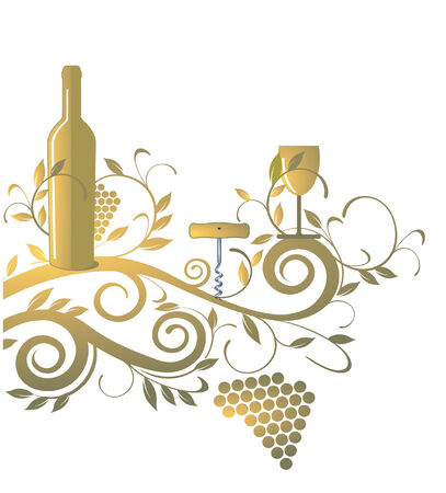 wine list Stock Vector - 7623463