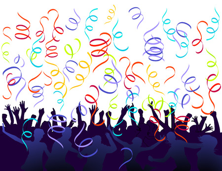 jubilation and confetti Vector