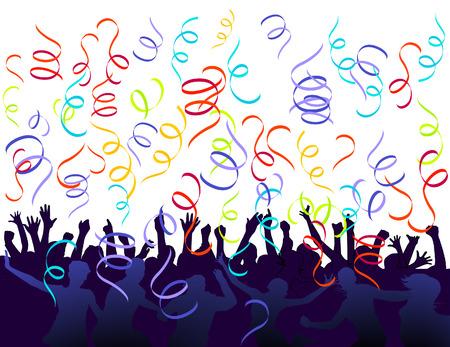 jubilation et confettis  Vecteurs