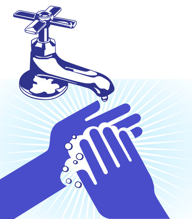 I wash my hands Vector