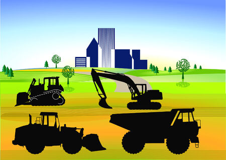 earth work ans roadworks Stock Vector - 7685392