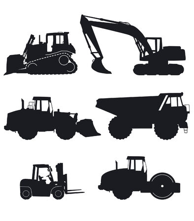construction machinery Stock Vector - 7685408