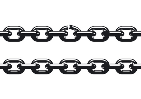 weakest link of a chain Stock Vector - 7685414
