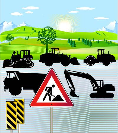 constructing: road building