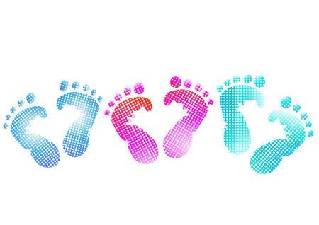 Baby footprint Vector